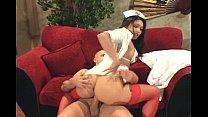 Asian nurse fucking with anal
