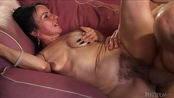 Horny granny Miss Nina Swiss with hairy cunt 4 min