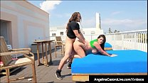 Curvy Cuban Angelina Castro Is Pussy Pounded On Hotel Roof!