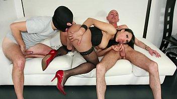 TRANS BELLA - Sexy Latina Tgirl fucks and gets fucked in hot hard threesome