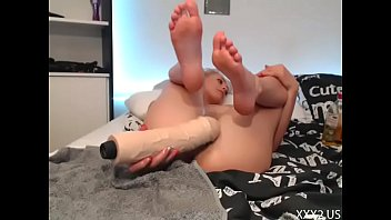 Sexy Siswet Trying Extreme Monster Dildo  — My FREE Chat girls4cock.com/siswet19