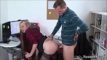 Jungspund fickt seine MILF Kollegin auf Arbeit durch - German Young Boy Seduce his MILF Co-Worker to Fuck
