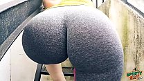 EPIC Round HUGE Ass with Tiny Waist and Cameltoe OMG!