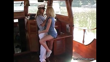 Lesbian Girls Eat Each Other On A Boat