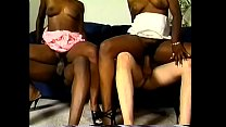 Interracial orgy session with lusttful ebony sluts and strong guys