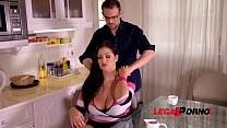 Busty Milf Anissa Jolie Gets Her Big Tits Covered in Cum GP047
