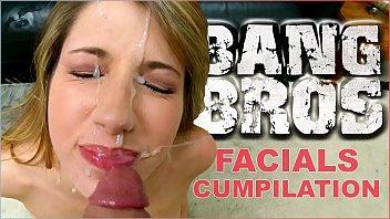 BANGBROS - Epic Facial Fest Cum Shot Compilation! Preston Parker Jizzing On Over 40 Faces #pancakes