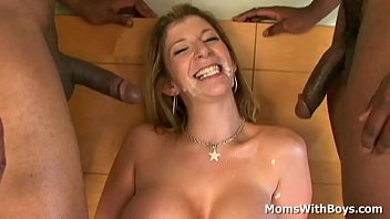 Mature Sara Jay gets a double penetration from the new tenants