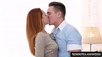 Young redheaded vixen Candy Red is passionately fucked with a huge cock 8 min