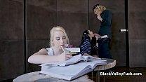 Black coed blows white bffs big crush