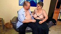 XXX OMAS - Fat mature German granny in stockings fucks lover
