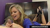 FemDom Mistress Ms. Julia Ann Won't Allow Her Hubby To Cum!