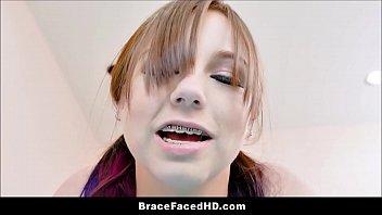 Cute Virgin Teen With Braces Luna Bright And Her Virgin Huge Cock Boyfriend Fuck 8 min