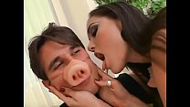 Sexy teen girl Sasha Grey gets down and dirty with a cock in the living room