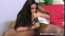 Hot Brunette Randi Wright fucks a huge cock while her husband watches