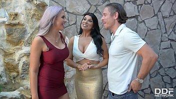 Busty American Milfs Romi Rain & Nina Elle Get Fucked in Hardcore Threesome
