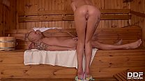 Horny Teen Katrin Tequila Masturbates and Sucks a Monster Shaft in the Spa