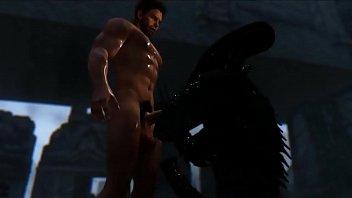 Alien Lust 2  3d gay games 8 min