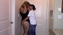 First sexual encounter with sexy ebony latina bbw (interracial)