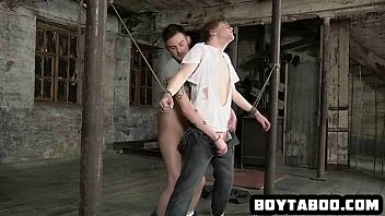 Horny tied up stud getting his tight ass fucked hard