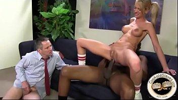 Kaylee Hilton anally impaled on black monster cock