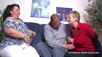 Thick thighed BBW joins in with mature couple 6 min