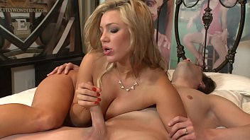 Hot blonde MILF Cameron Dee rides cock and gets lot of cum on her big tits