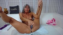 Adept sassy mature Leilani dirty talking and gets cream