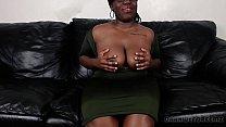 Big Black Booty BBW Cumming For An Interview