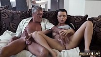 Daddy and partner's daughter alone old young girl bus What would you