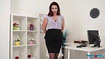 secretary strip tease