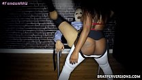 Ebony Babe First Pegging Experience