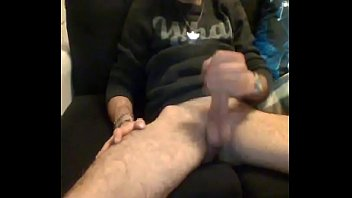 French straight guy with big cock masturbating