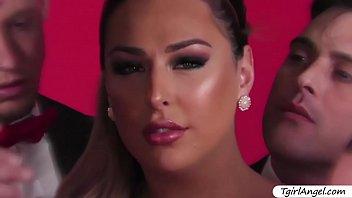 Superstar tgirl Chanel Santini kinky anal gangbang