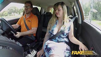 Fake Driving School Massive British boobs one last lesson 8 min