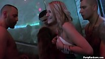Hot blonde amateur goes to the bar to get a d. and ends up with a stripper in her slutty cunt in PHGC24