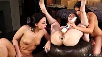 Lesbians rimming and anal toying