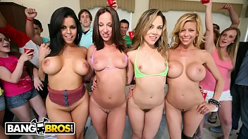 BANGBROS - Jada Stevens, Diamond Kitty, Alexis Fawx and Kristina Rose on Dorm Invasion