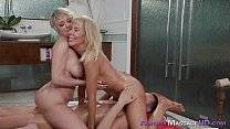 Young guy and two busty MILFs Erica Launer and Dee Williams