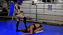 Female Wrestling Domination Victory Poses Submission