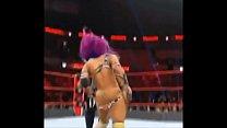 Sasha Banks wardrobe malfunction.