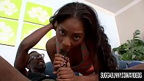 Cute Ebony Teen Tiffan Monroe Gets on All Fours for a Hard BBC