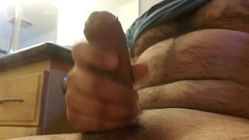 Thick cum shoots out hard cock!