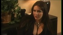 Gorgeous brunette Taylor St. Claire wants to give joy to her husband, famous businessman, French-kissing him in his office