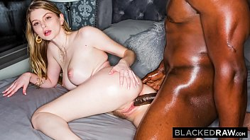 BLACKEDRAW Blonde Babe Gets Dominated By Huge BBC