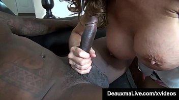 Horny Cougar Deauxma Fucks Big Black Cock Debt Collector!