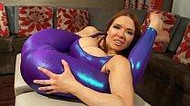 Super Stretchy Redhead Shows Off Flexibility in Spandex 7 min