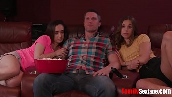 Teens attack unsuspecting father figure while watching a movie