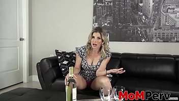 Stepmom MILF Cory Chase drinks before taboo doggystyle