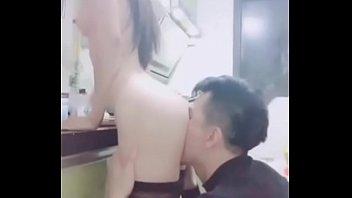 Chinese Camgirl Duola Kitchen Sex